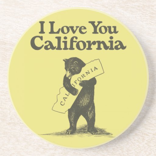 I Love You California Drink Coaster