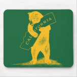 I Love You California--Green and Gold Mousepads