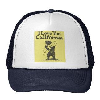 I Love You California Mesh Hats