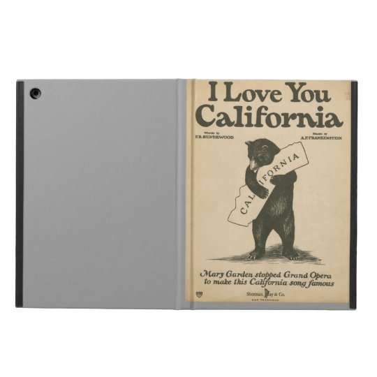 I Love You California iPad Air Case