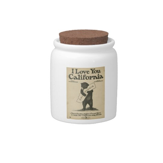 I Love You California Jar Candy Dishes