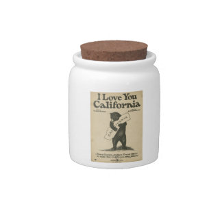 I Love You California Jar Candy Dishes