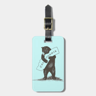 I Love You California Luggage Tag