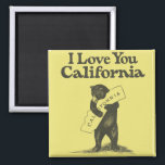 """I Love You California Magnet<br><div class=""""desc"""">High-quality scan of original vintage sheet music,  official California state song. A bear hug for your favorite state!</div>"""