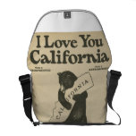 I Love You California Messenger Courier Bags