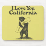I Love You California Mouse Pad