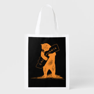 I Love You California--Orange and Black Reusable Grocery Bags