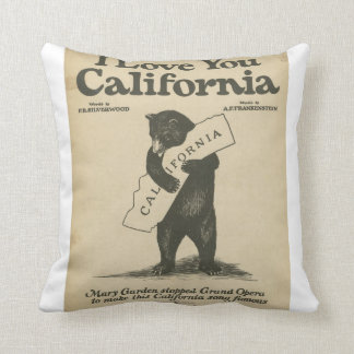 I Love You California Pillow