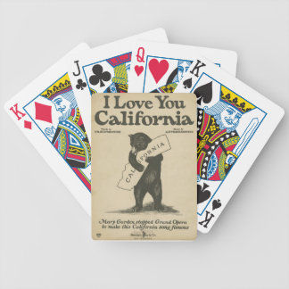 I Love You California Playing Cards