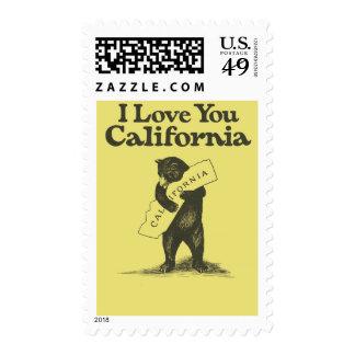I Love You California Postage Stamp