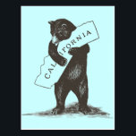 "I Love You California Postcard<br><div class=""desc"">A bear hug for your favorite state! High-quality scan of original vintage sheet music,  official California state song.</div>"