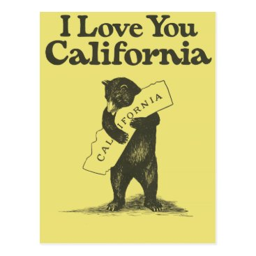 Musicallaneous I Love You California Postcard