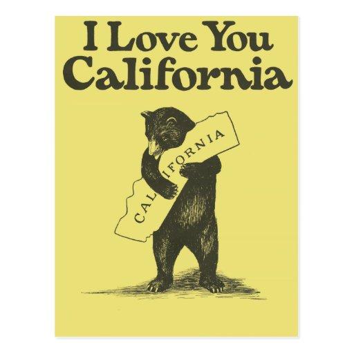 I Love You California Postcards