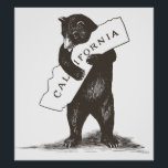 "I Love You California Poster<br><div class=""desc"">A bear hug for your favorite state! High-quality scan of original vintage sheet music,  the official California state song.</div>"