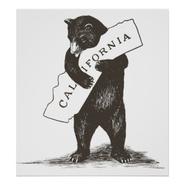 Valentines Themed I Love You California Poster