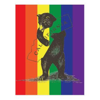 I Love You California--Rainbow Postcard