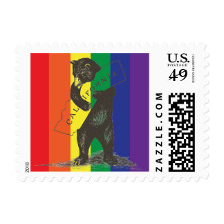 I Love You California--Rainbow Stamp