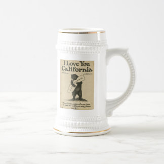 I Love You California Stein Coffee Mug