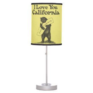 I Love You California Table Lamp