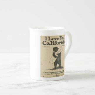 I Love You California Teacup Tea Cup