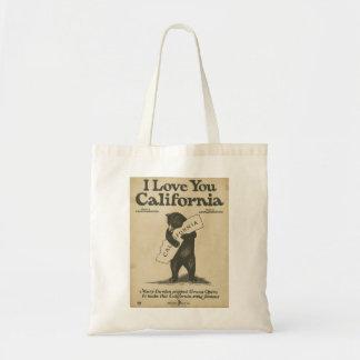 I Love You California Tote Budget Tote Bag