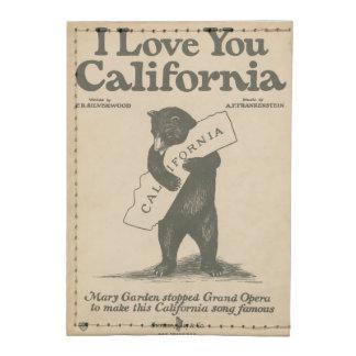 I Love You California Tyvek® Card Wallet