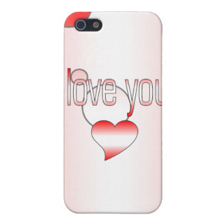 I Love You! Canada Flag Colors Pop Art iPhone SE/5/5s Cover