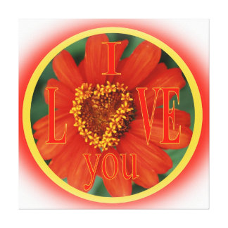 I Love You Stretched Canvas Print