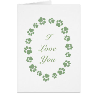 """""""I Love You"""" Card for Cat People"""