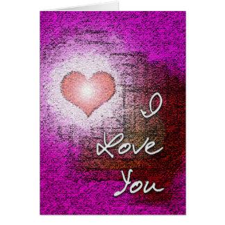 I love you card. greeting card