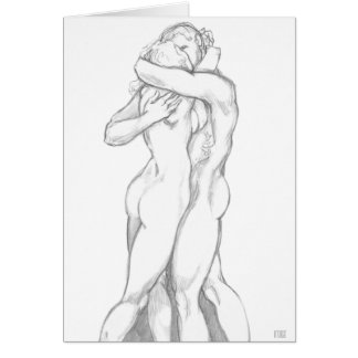 I Love You Card Personalized Romantic Hug Cards