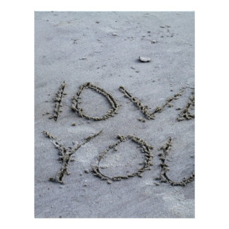 I Love You Carved Into the Sand Letterhead