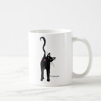I Love You, cat. Coffee Mug