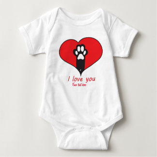 """I love you"" Cat paw T Shirt"