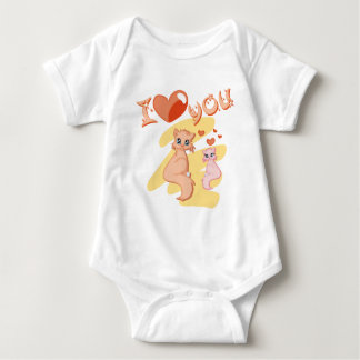I love you cats - I love you cats Baby Bodysuit