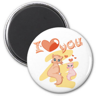 I love you cats - I love you cats Magnet