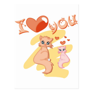I love you cats - I love you cats Postcard