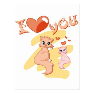 I love you cats - I love you cats Postcard