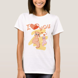 I love you cats - I love you cats T-Shirt