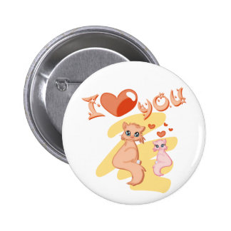 I love you cats pinback buttons