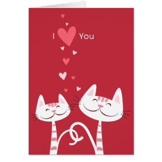 I Love You Cats Valentine Card