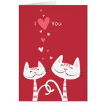 I Love You Cats Valentine Greeting Card