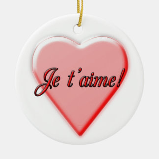 I Love You Ceramic Ornament