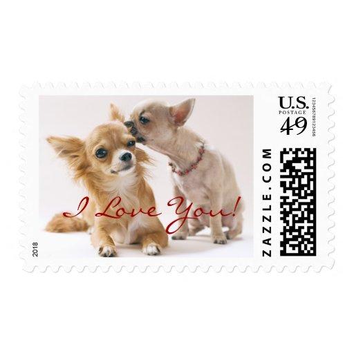 I Love You Chihuahua Stamps