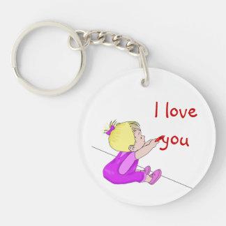 I Love You Child Single-Sided Round Acrylic Keychain