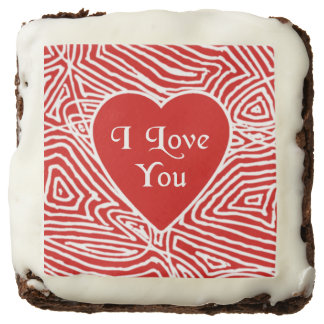 I Love You Chocolate Brownie