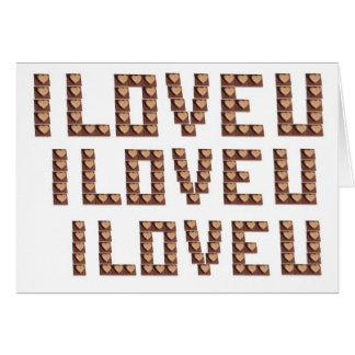 I Love You Chocolate Hearts Card