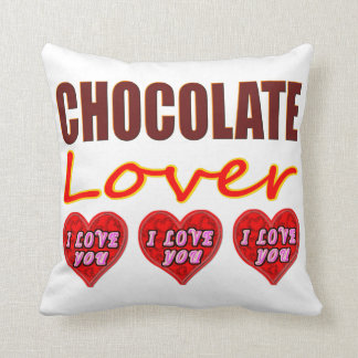I Love You Chocolate Lover Throw Pillow