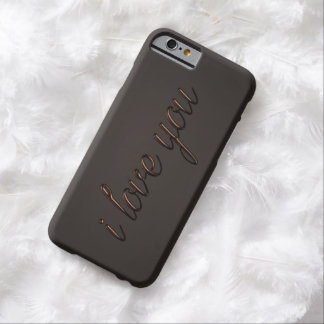 """""""I love you"""" Chocolate Style Barely There iPhone 6 Case"""