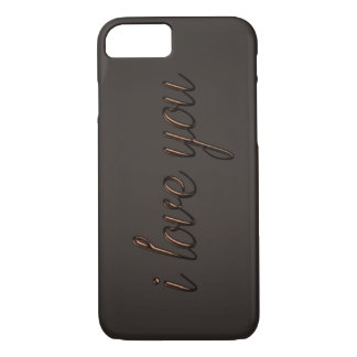"""""""I love you"""" Chocolate Style iPhone 8/7 Case"""
